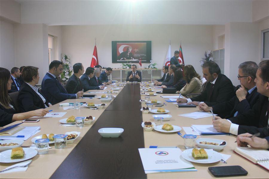 Bölge Müdürlüğümüzde Ticaretin Kolaylaştırılması, İşbirliği ve Değerlendirme Toplantısı gerçekleştirildi