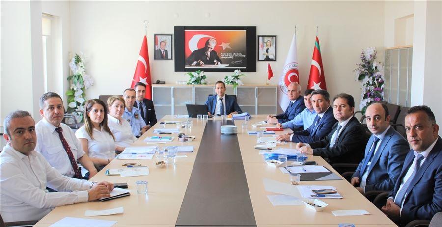 Bölge Müdürümüz Sayın Hayrettin YILDIRIM başkanlığında risk analizi ve genel değerlendirme toplantısı yapıldı