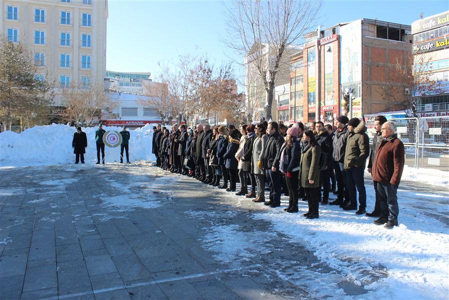 26 Ocak Dünya Gümrük Günü etkinlikleri kapsamında Atatürk Anıtına Çelenk Sunma, Saygı Duruşu ve İstiklal Marşı Töreni