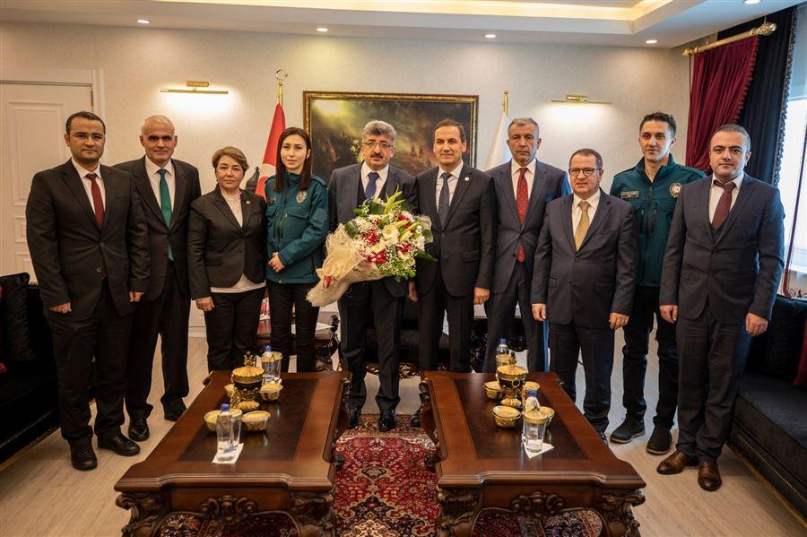26 Ocak Dünya Gümrük Günü etkinlikleri kapsamında Van Valisi Sayın Mehmet Emin BİLMEZ makamında ziyaret edildi
