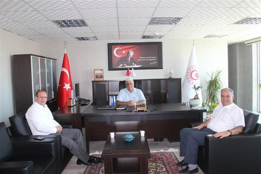 Van Vali Yardımcısı Sayın Turgut GÜLEN ile Van Defterdarı Sayın Murtaza KAMAR 'dan Bölge Müdürlüğümüze Ziyaret